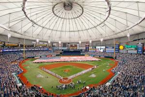 Tropicana Filed,  The stadium that would bring baseball to the Tampa Bay area. (Getty Images)