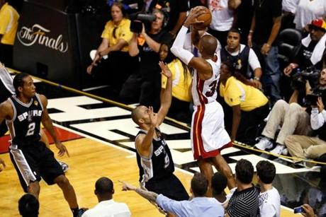 2c8c13ebbf48 Ray Allen shooting a crucial three-pointer in Game 6 of the 2013 NBA Finals