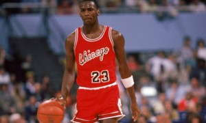 Michael Jordan during his rookie season. (Getty Images)