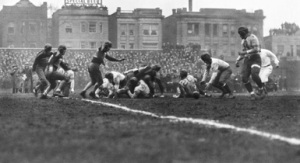 The 1933 NFL Championship Game played at Wrigley Field in Chicago. (Getty)